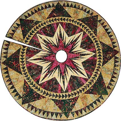 Christmas Celebration tree skirt with slit